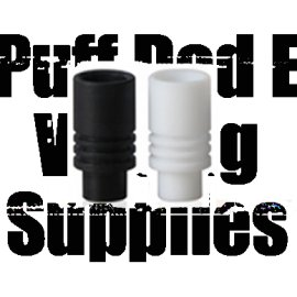 Teflon friction fit drip tip wide bore