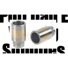 Stainless with copper / Brass inset Wide bore drip tips