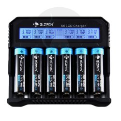 Efan X6 LCD 6 Bay Charger