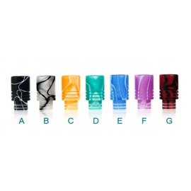 Acrylic wide bore Drip Tips 510