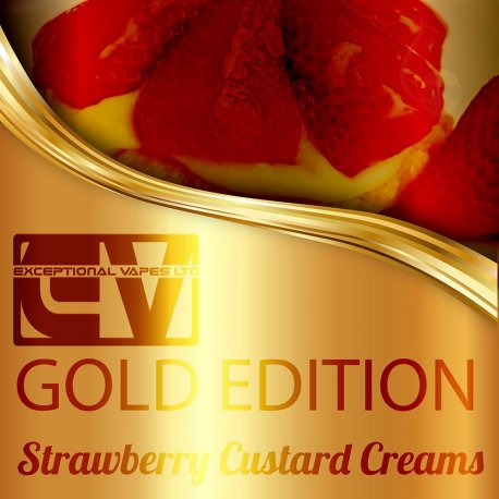 Exceptional Vapes Strawberry Custard Cream Biscuits 10ml