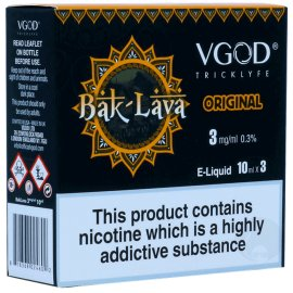 VGOD bak lava 3 x 10ml Bottles