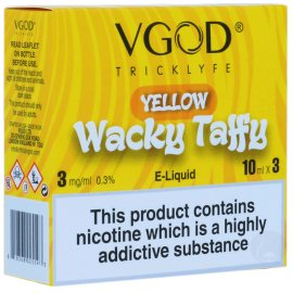 VGOD Yellow Wacky Taffy 3 x 10ml Bottles