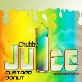 Chubby Juice Custard Donut 100ml zero Nicotine