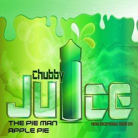 Chubby Juice The Pie Man 100ml zero Nicotine