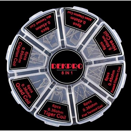 DEKPRO 8 in 1 Pre Made Coil Selection