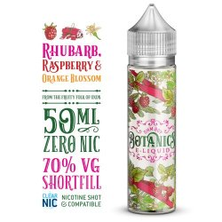 Botanics Rhubarb, Raspberry & Orange Blossom 50ml Shortfill