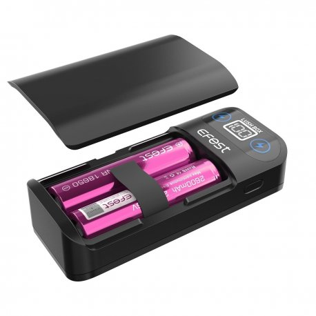 Efest LUSH BOX 2-In-1 USB 18650 Battery Charger / Power Bank 2 Battery Version